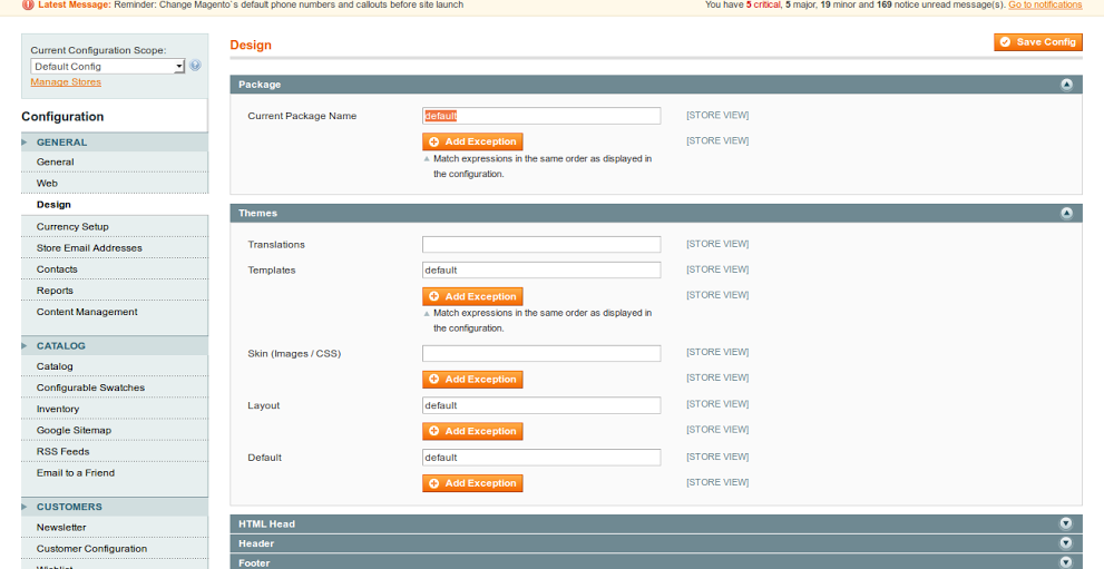 Assigning New Magento Theme
